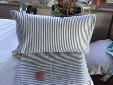 """Vint Gray & Wh Ticking Pillowcase 11""""X21"""" Freshly Constructed Pecale Back Zipper"""