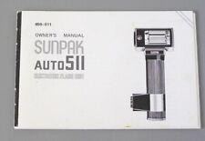 New listing Sunpak Auto 511 Instruction Manual original English