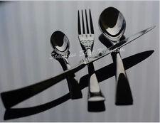 Stainless Steel 16 Pieces Black Cutlery Set Steak Knife Fork Spoon Teaspoon