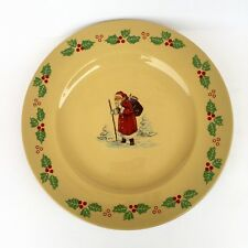 Figgjo Norway Santa Claus Christmas Porcelain Display Plate Mid Century 11""