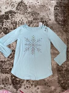 NWT CHILDRENS PLACE WINTER SNOWFLAKE TEE SHIRT SIZE M