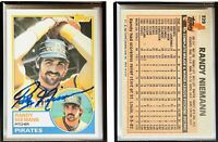 Randy Niemann Signed 1983 Topps #329 Card Pittsburgh Pirates Auto Autograph