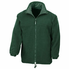 Men's Collared Fleece Hip Length Zip Coats & Jackets