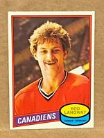 1980 O-Pee-Chee OPC #344 Rod Langway Rookie Card RC Canadiens