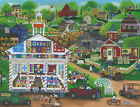 Quilt Quilters Church School Barns Red Pick Up Trucks Bicycle Sunflowers Kids