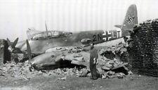 Rare WWII Photo Messerschmitt  Me 210 Crash Landed  WW2 B&W World War Two / 6061