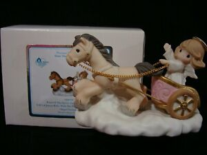Precious Moments-CHAPEL EXCLUSIVE-Angel/Horse In Roman-Chariot-A Joyous Ride