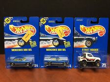 Hot Wheels Blue Card Street Roader & Mercedes 380 With Variation Lot Of 3 EM2054