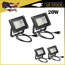 4pcs 20W LED Flood Light Warm White with US Plug 110V