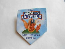 Cool Vintage Disney's Angels in the Outfield Movie on Video Promo Pin Pinback