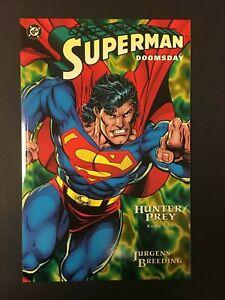 SUPERMAN DOOMSDAY HUNTER PREY # 2 SIGNED BY DAN JURGENS DC COMICS 1994 EB200