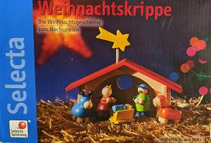 NEU OVP Selecta Weihnachtskrippe 10 Teile Krippe Holz Kinderkrippe HABA Jako-o