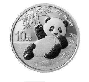 1 x 30g China Panda Silver Coin (2020)