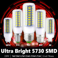 220V 5730 LED Corn Bulb Lamp Light Warm Cool White Bulb E27 E14 B22 GU10 G9 Base