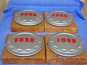 1961-1967 Ford Truck F100 Painted Hub Caps NOS