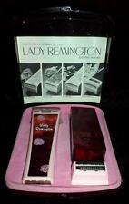 Vintage 1973 Lady Remington MS-140 Electric Razor in Case w/instructions NICE HL