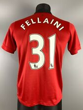 MANCHESTER UNITED 2013/2014 FELLAINI HOME FOOTBALL SOCCER JERSEY NIKE BOYS XL
