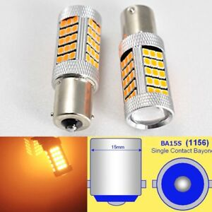 1156 P21W 7506 63 LED Projector Amber Bulb Backup Reverse Light B1 For Euro cars