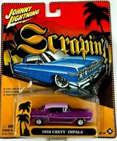 Johnny Lightning Scrapin' 1958 Chevy Impala Low Rider - Purple - Diecast 1:64