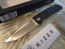 """Kizer V3 Vigor Tactical Pocket Knife V3403A1 Black G10 VG-10 SS 7"""" Open 3"""" Blade"""