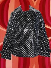 78✪  Twiggy Lack Jacke Trenchcoat Stil Retro 60er 70er Jahre Herzprint Gr. 36 38