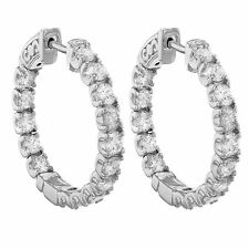 Hoop White Gold Fine Earrings