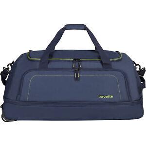 Travelite Basics 2-Rollen Reisetasche 78 cm (marine limone)