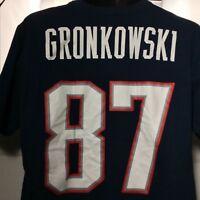 Gronk New England Patriots Rob Gronkowski #87 National Football League Shirt Lge