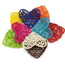5PCS 7CM Party Decorations Craft Wooden Sepak Takraw Heart Shape Rattan