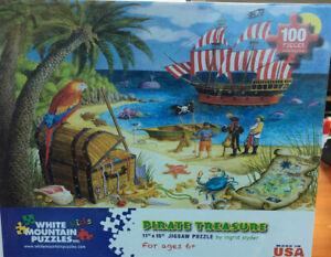 "White Mountain Jigsaw Puzzle "" Pirate Treasure"" 100 piece"