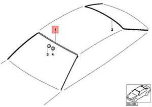 BMW E46 3-SERIES FRONT WINDOW WINDSHIELD MOULDING SEAL 325CI 330CI M3 GENUINE