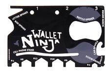 Wallet Ninja 18 In 1 Pocket Multi Tool 3 Screwdrivers 6 Hex Head Nuts Bolt 1.5mm
