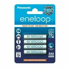 Panasonic BK-4MCCE/4BE Eneloop Micro AAA 750 mAh Rechargeable Batteries