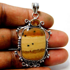 Natural Dendrite Opal 925 Sterling Silver Plated Jewelry Women Pendant 11 Gm-P78