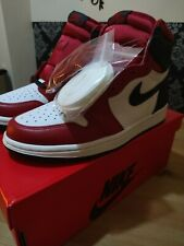 Nike Air Jordan 1 High OG Satin Red Chicago W US7  EU38