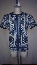 Dolce & Gabbana  T- Shirt Men Maiolica  Blu size 46  Nuova  Originale G8HI7T