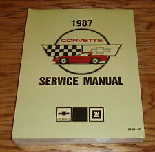 1987 Chevrolet Corvette Service Shop Manual 87 Chevy
