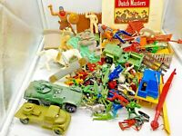 Vintage TOY Soldier FIGURES PLAYSET PARTS LOT MARX MPC Tim-mee Lido More