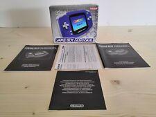Boite Console Game Boy Gameboy Advance GBA Violette wide color screen 32bit
