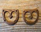 Civil War Dug Copper Brogan Heel Plates, Arrows, ref. Dr. Francis Lord