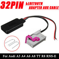 32Pin bluetooth Adapter Aux Cable For Audi A3 A4 A6 A8 TT R8 RNS-E+ Install Tool