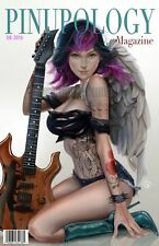 "Holly Rock Angel ""Pinupology"" Pin Up Guitar Faux Magazine Covr Art Print Delara"
