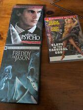 Freddy vs. Jason, American Psycho, Slave of the Cannibal God lot