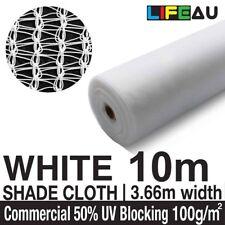 50% WHITE 3.66 x 10m Shade Cloth Shadecloth 3.66m wide Greenhouse Mesh
