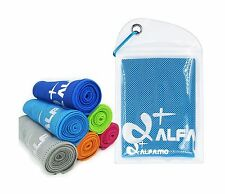 Alfamo Cooling Towel for Sports Workout Fitness Gym Yoga Pilate... Free Shipping