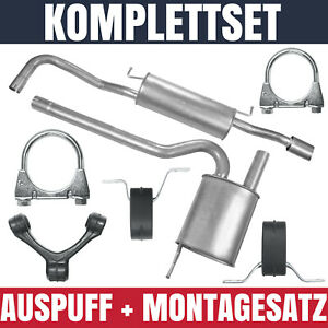 Auspuffanlage Schalldämpferset Auspuff Audi A4 B5 1.6 Stufenheck Kombi Avant