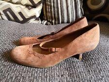 Clarks Genuine Brown Leather Suede Ladies Shoes UK6 EU39 RRP£65