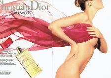 Publicité Advertising 088  1995  Christian Dior  cosmétiques corps svelte  (2 pa