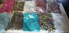 Gros lot revendeur perles de rocailles en VERRE  +4kg500 de 2 à 4mm