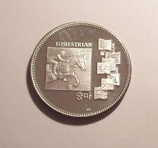 1988 Seoul Korea Olympics EQUESTRIAN 1 Oz .999 Silver Proof Round